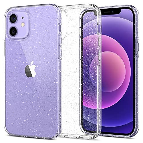 Spigen Funda Liquid Crystal Glitter Compatible con iPhone 12 y Compatible con iPhone 12 Pro - Crystal Quartz