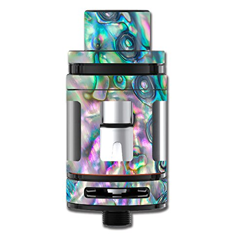 Skin Decal Vinyl Wrap for Smok TFV8 Big Baby Beast Tank Vape Stickers Skins Cover/Abalone Shell Pink Green Blue Opal