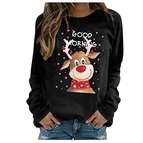 SicongHT Weihnachten Pullover Damen, Frauen Weihnachtspulli Rudolph Rentier...