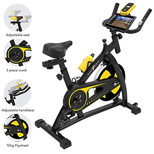 Nero Sports Cyclette Aerobica da Spinning Allenamento Indoor Fitness Cardio Spin Bike