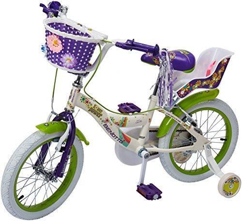Benotto CRDFLO1601UNBL Bicicleta de Acero Rodada R16, Niña, 1 Velocidad