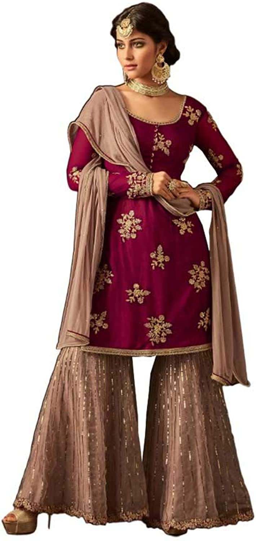 Unstitched sharara Plazo Traditional Wedding Beautiful Salwar Kameez Latest net Fashion
