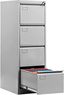 Rangement de dossiers Cabinet de file vertical de plancher de plancher vertical Cabinet 4 tiroir File de rangement Cabinet...