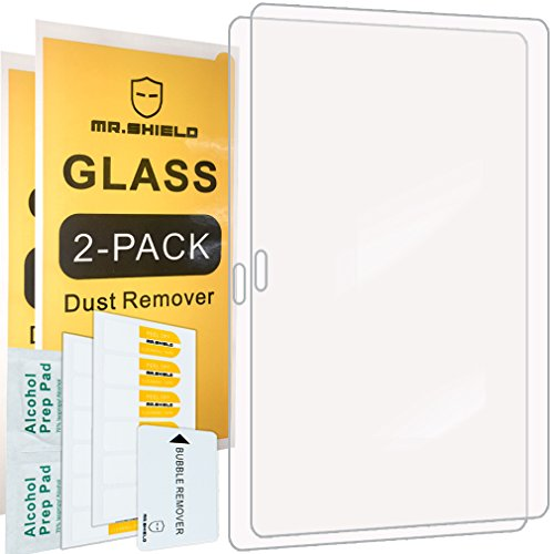 [2-PACK]-Mr.Shield For Samsung Galaxy Tab S 10.5 inch [Tempered Glass] Screen Protector [0.3mm Ultra Thin 9H Hardness 2.5D Round Edge] with Lifetime Replacement