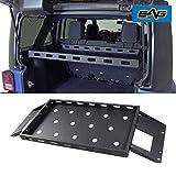 EAG Interior Rear Cargo Basket Rack Luggage Storage Carrier Fit for 2007-2018 Wrangler JK 4 Door Unlimited Sahara Sport Rubicon