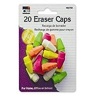 Charles Leonard Pencil Eraser Caps, Neon, Assorted, 20-Pack (80792)