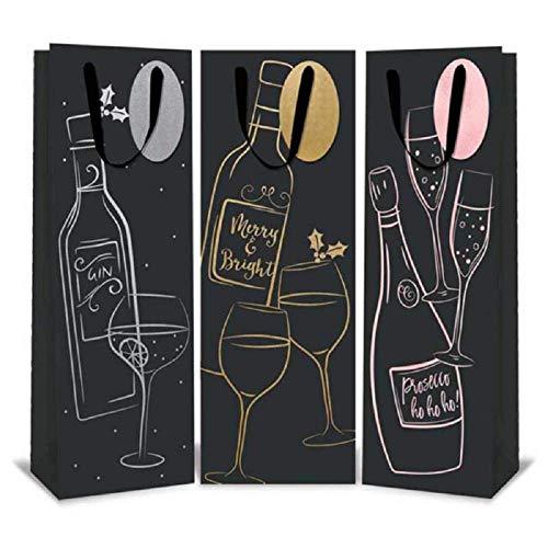 Tallon, Paper Things 12 Bolsas Navidad Botellas Vino/Licor