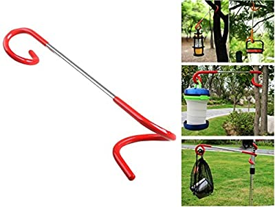 MINI-FACTORY Multi-Purpose Camping Lantern Hanger Holder, 2 Way Hanger Lantern, Bag, Utensil Hanger Hook for Outdoor Camping Fishing