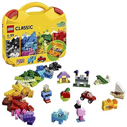 LEGO Classic ValigettaCreativa, Contenitore per Giocattoli,Mattoncini Colorati da Costruzione per Bambini, 10713