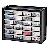 IRIS USA DPC-24 Parts and Hardware Cabinet, 24 Drawers, Black