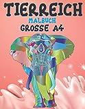 Malbuch - Grosse A4 - Tierreich