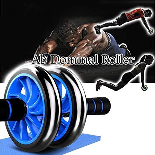 SIMEIXI Rodillos Abdominales, Rueda de Ejercicio Abdominal, Entrenador de Fuerza Abdominal, con una Almohadilla Extra Gruesa para la Rodilla.(Azul)