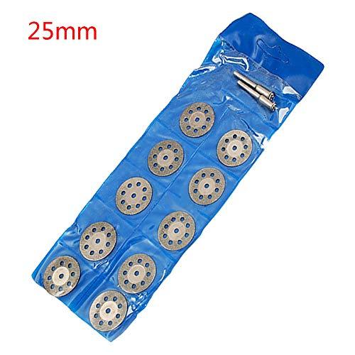GFHDGTH Dremel Accessoires 20-25mm Diamant Dremel Snijschijf, voor Metalen Slijpschijf Mini Cirkelzaag voor Boor Rotary Tool 22mm