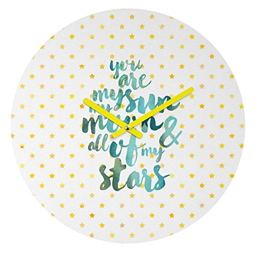 Deny Designs Hello Sayang Round Clock, You are My Sun My Moon and All of My Stars