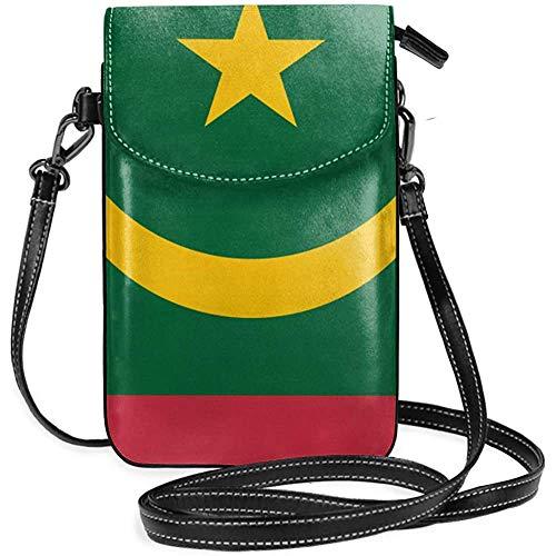 Inner-shop Mauretanien Flagge Leder Handy Geldbörsenhalter Brieftasche Functional Multi Pocket