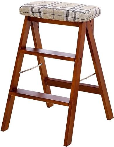 HYYSH Klapphocker einfacher KlapÃleiter Küchenhocker hoher Hocker (Farbe   braun)