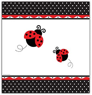 Creative Converting Ladybug Fancy Plastic Table Cover, 54 inch x 108 inch Size