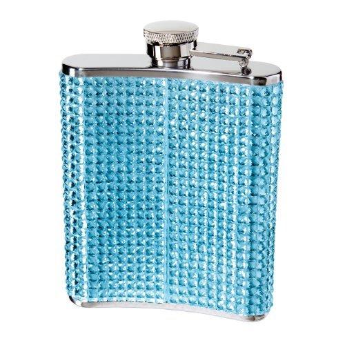 Oggi 9248.5 - Fiaschetta in acciaio inox con brillantini e glitter, colore: Blu