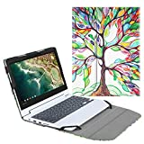 Fintie Sleeve Case for 11.6' Lenovo Chromebook C330 - Premium PU Leather Protective Portfolio Book Cover (NOT Fit Lenovo Chromebook N20p / N21 / N22 / N23 / 300E / 500E / Flex 11), Love Tree