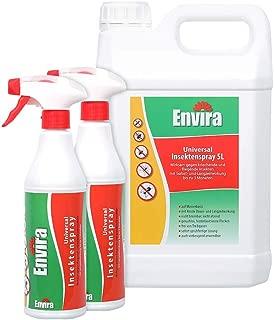 Envira Universal-Insektizid - Hochwirksames Insekten-Spray Mit Langzeitschutz - Auf Wasserbasis - 2 x 500 ml  5L