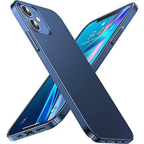 CASEKOO Ultra Dünn Serie Kompatibel mit iPhone 12/12 Pro Hülle Slim Handyhülle Mattem Finish Hülle with Kratzfest Schutz Hard PC Back 6,1 Zoll 5G 2020, Pazifikblau