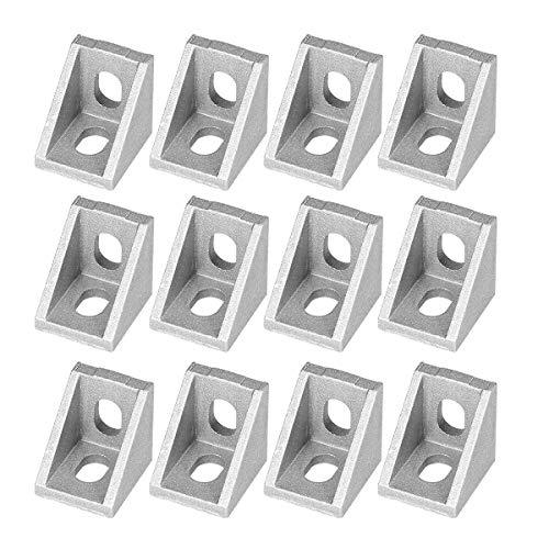 UEETEK 25Pcs 2020 Eckwinkel für 20mm Aluminiumprofile (Mattglanz)