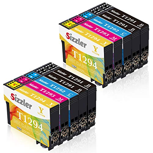 Sizzler T1295 Multipack Ersatz für Epson T1291 T1292 T1293 T1294 Druckerpatronen Kompatibel mit Epson Stylus SX435W SX235W SX420W SX230 SX425W SX440W SX445W, Epson Stylus Office BX535wd