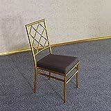 CZPF Boda De Metal Silla De Bambú Silla De Hotel Silla Inglesa Nueva Silla Clásica Silla De Castillo Silla Napoleón Silla Moderna Simple
