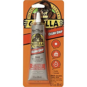 Gorilla Clear Grip Contact Adhesive Waterproof 3 Ounce Clear  Pack of 1