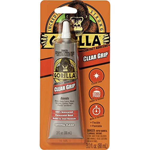 Gorilla Clear Grip Contact Adhesive, Waterproof