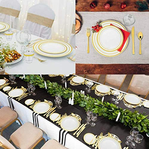 Wanbigo Disposable Plastic Dishes Round Plate Tray Wedding Party Supplies Tableware Dish & Tray Dispensers