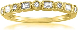 yellow gold bezel diamond ring