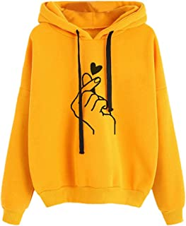 Hoodies for Women, Women Print Hoodies Sweater Teen Girls Hooded Sweatshirt Pullover Jumper Outerwear Coat