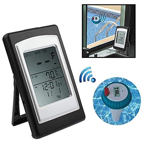 ZUZU Partol Pool Thermometer Pool Wassertemperaturanzeige Wireless Digital Schwimmende Schwimmhilfe SPA Temperatur, Whirlpool