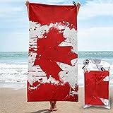 Beach Towels Art Canadian Flag Hand Towel Sheets Bath Linen Super Absorbent Blanket Bathroom Travel Extra Large Pool Swimsuits Covers Novelty Washcloths Foot Yoga Mat,27.5'x55' 31.5'x63'