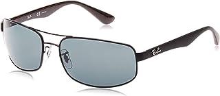Ray-Ban Men's Rb3445 Metal Rectangular Sunglasses