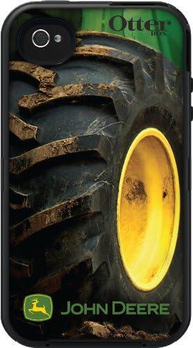 OtterBox Defender Series for Apple iPhone 4S Retail Packaging Black Black John Deere Tire Design product image