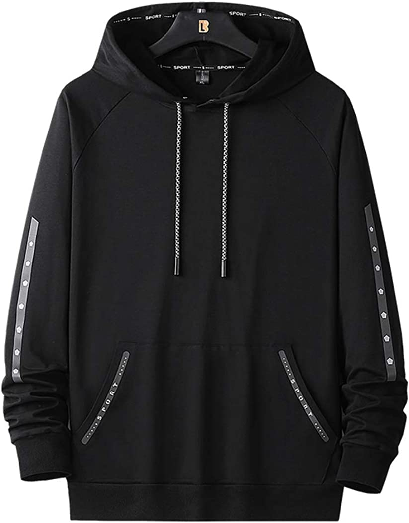 Real Max 89% OFF Spark Men's Stylish Stripe Hooded Casual Sweatshirts Sport Easy-to-use
