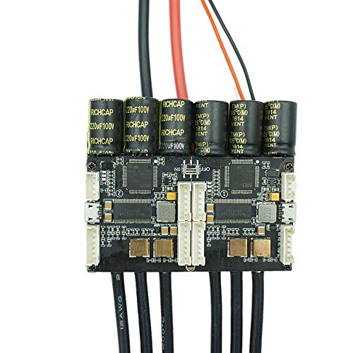 Luntus V4.20 Dual Fsesc4.20 100A Esc mit Eloxiertem Aluminium Kühl K?rper für Elektro Skateboard Rc Auto Drohne Elektrisch Bike Elektrisch Roller Roboter