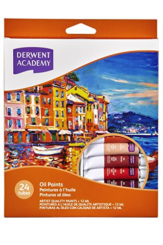 Derwent Academy Oil Paints 12Ml 24Pk