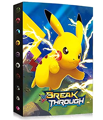 Classeur pour Cartes Pokemon, Porte Cartes Pokemon, Album Cartes Pokemon, Manchons Cartes Titulaire Cartes pour Cartes Pokemon GX EX, 30 pages peut contenir jusqu'à 240 cartes (SD-SDQ-PIKAQIU)