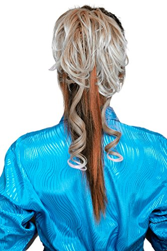 WIG ME UP - Postiche avec peigne, volumineux, boucles tombantes, baroque, mélange de blond, YZF-3072HT-27T613