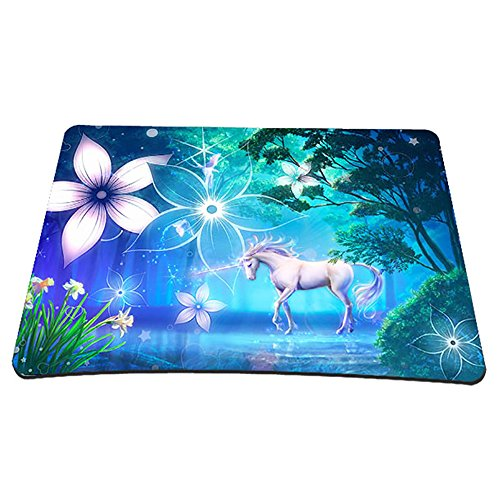Non-Slip Rubber Base Mousepad for Laptop Computer PC Personality Desings Gaming Mouse Pad Mat 9.45 X 7.87 inch (Unicorn, 9.45 X 7.87 inch)