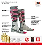 X-Socks Control 4.0 Calze Invernali Da Sci, Donna, Grey Melange/Charcoal, M