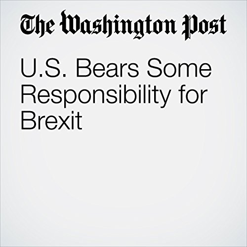 U.S. Bears Some Responsibility for Brexit audiobook cover art