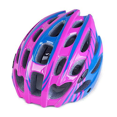 JIAGU Cascos para Bicicletas para Adultos Casco de Bicicleta Integrado Casco de Bicicleta Casco de Bicicleta de montaña (Color : Red Blue, Size : 62cm)