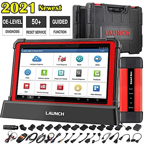 LAUNCH X431 Pad V Sistema Completo OBD Scanner Maquina Diagnosis Coche, 31+ función de reinicio, Bidireccional, codificación ECU, Programación, IMMO, escaneo automático,OBD2 WiFi