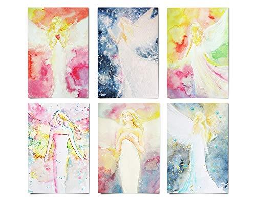 Bunte Spirituelle Engelbilder - Engel Deko- Bilder klein - Karten Set - Engelkarten -Schutzengel