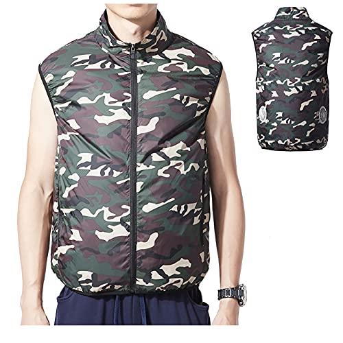 bilanciere 93 kg Yajun Gilet da Trekking Raffreddamento Estivo Traspirante Abbigliamento per Aria Condizionata con 2 Ventole Tuta da Ciclismo da Pesca Refrigerata All'aperto