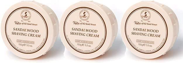 Taylor of Old Bond Street Sandalwood Shaving Bowl, 5.3-Ounce Pack of 3 (3)